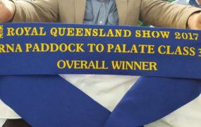 2017 RNA Paddock to Palate Class 37 – Overall Winner | Yaralla Droughtmasters